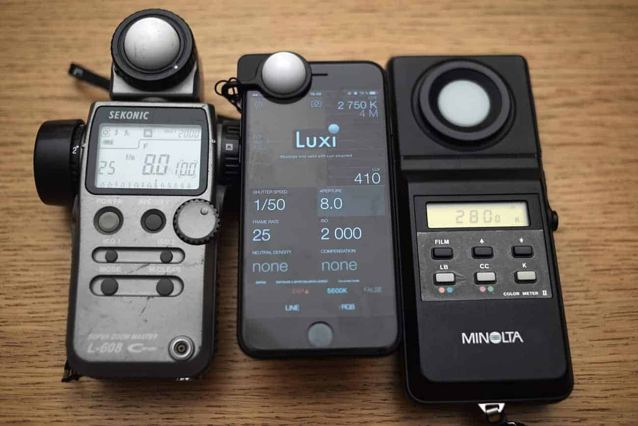 Cine Meter II app and Luxi